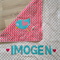 Personalised birdie name blanket