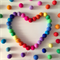 Felt Ball Garland Rainbow Bright