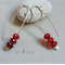 Argentium Sterling Silver range - bright red Czech glass bead earrings