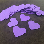 100 x Wedding heart confetti