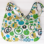 Fruity Green Apple Design Ladies Hobo Handbag Purse