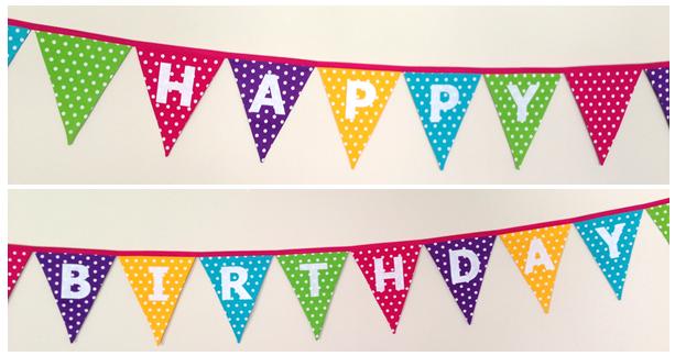 Birthday Cake Bunting Flags Printable