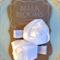 'Evelyn' White Satin Rose Wedding / Christening Hair Clips.