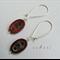 Argentium Sterling Silver range - deep red oval Czech glass bead earrings