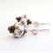 Sweet flower glass and sterling silver  earrings by Sasha + Max Studio