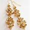 GoldHand woven Swarovski crystal earrings