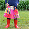 """""""Busy Bees"""" Bright & fun Patchwork skirt Sizes 1-3 Pink, Red, Purple"""
