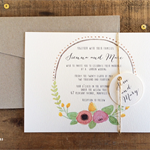 Simply Sweet Wreath Invitation