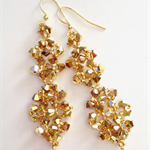GoldHand woven Swarovski crystal earrings