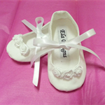White Christening Baby Shoes