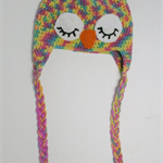 SIZE 6-12mths Fruit Tingle Owl Beanie