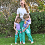 Tracksuit Pants - green for boys and girls - for all ages - made to order