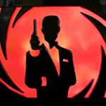 3D Led light lamp candle wax sculpture painting James Bond 007 candle art