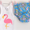 Girls Flamingo Nappy Cover Set
