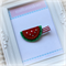Red Watermelon Fruit Hairclip