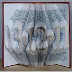 Folded Book Art - Paper Anniversary - First 1st Wedding Anniversary