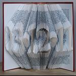 Folded Book Art - Paper Anniversary - First 1st Wedding Anniversary