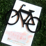 Black Perspex Laser Cut Bicycle Brooch