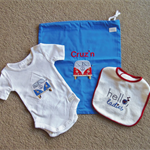 Baby Shower Gift Set - Gift Bag, Onsie & Bib