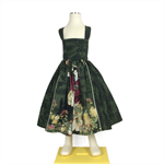 Girls dress. Geisha, green, summer, sundress, party dress. Sizes 4-10