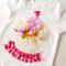 Pink and Gold Polka Dot Princess Cupcake 1st Birthday Design Onesie,