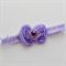 Lavender Bow Headband, Newborn Size