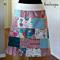 Women's Patchwork A-Line Skirt Size M