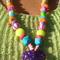 Gobledeegook Fun Necklace - Purple Heart