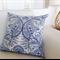 Paisley Cushion Blue & White Linen 45cm Beaututiful Pillows