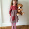 Size 4 girl's dress in rusty red with a wool blend skirt