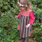 Size 3 girl's dress with a beautiful vintage wool skirt