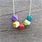 Wooden geometric paint dipped necklace