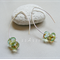 Argentium Sterling Silver range - aquamarine Czech glass bead earrings