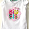 Big Sister Tshirt, Baby Gift Big Sis Custom tshirts