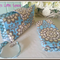 Nappy Wallet and Change Mat Combo - Amy Butler Sky Blue Wallflower