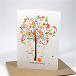 Happy Birthday Card - Female - Orange Blossom Tree - HBF084