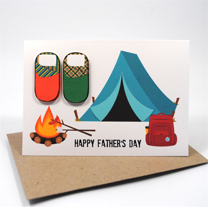 Happy Father's Day Card - Camping