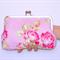 Tanya Whelan Pink Floral Kiss Lock Purse 200mm Frame