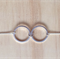 SMALL SIMPLE SILVER TWO CIRCLE INFINITY NECKLACE - FREE SHIPPING