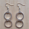 SMALL SIMPLE SILVER TWO CIRCLE INFINITY EARRINGS - FREE SHIPPING WORLDWIDE