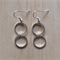 EXTRA SMALL SIMPLE SILVER TWO CIRCLE INFINITY EARRINGS - FREE SHIPPING WORLDWIDE