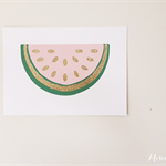 Juicy Watermelon Papercut Print