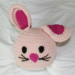 SIZE 3-6mths Pale Pink Bunny Beanie