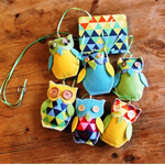 Ollie Owl - Baby Mobile - Small - Brights Triangles
