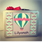 Personalised Storage Carry Cases - Kids Gifts - Hot Air Balloon & Rainbows