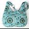 Brown and Blue Suzani Design Ladies Hobo Handbag Purse