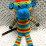 Crocheted Rainbow Monkeys - Boy
