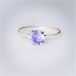 Amethyst crystal ring, Swarovski crystal ring