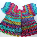 Crocheted Bella Rebekah Cardigan. Size 18-24 months.