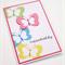 Handmade Birthday Card - Bright Butterflies
